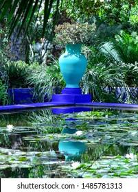 Jardin Majorelle, Marrakech, blue vase