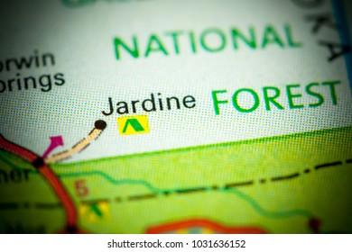 Jardine. Montana on a map.