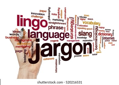 Jargon word cloud concept