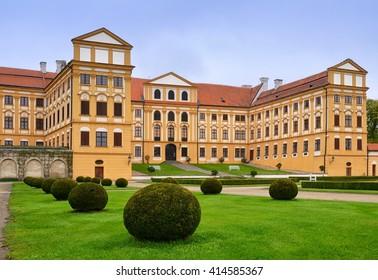 Jaromerice nad Rokytnou. Castle in Czech republic, Europe. Near Unesco town Trebic.
