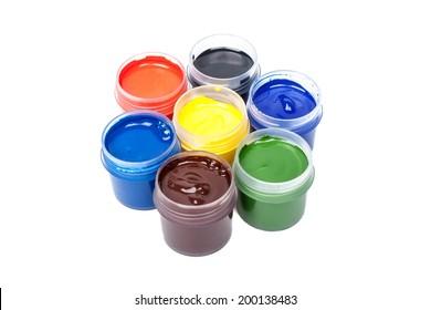 Jars with gouache