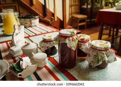 Jars of jam Valdivia, Chile.