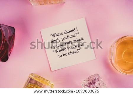 Jars Perfume On Pink Background Stock Photo Edit Now 1099883075