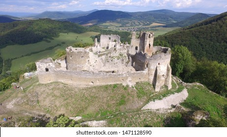 Jasenov Castle,  a ruined Gothic and Renaissance era stone castle above the village of Jasenov in Humenné, Slovakia