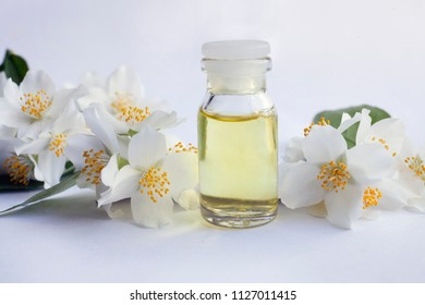 Lilac syringe essential oil extract infusion stock photo edit now jasmine essential oil tincture remedy infusion bottle with fresh jasmine flowers on mightylinksfo