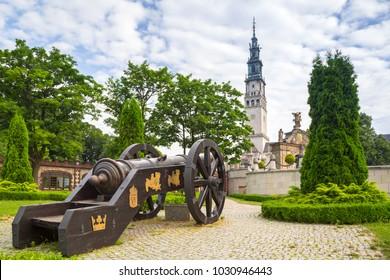 The Jasna Gora monastery in Czestochowa city, Poland