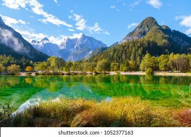 Jasna lake in Julian Alps, Kranjska gora, Slovenia