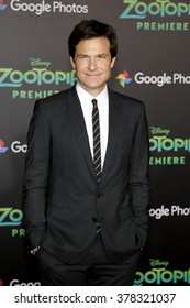 Jason Bateman at the Los Angeles premiere of 'Zootopia' held at the El Capitan Theater in Hollywood, USA on February 17, 2016.