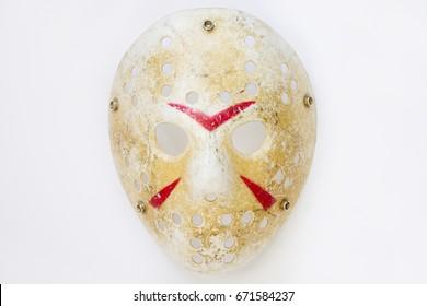 jason mask on white background