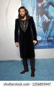 Jason Momoa at the Los Angeles premiere of 'Aquaman' held at the TCL Chinese Theatre in Hollywood, USA on December 12, 2018.