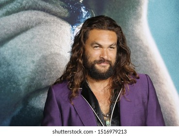 Jason Momoa at the Los Angeles premiere of 'Joker' held at the TCL Chinese Theatre IMAX in Hollywood, USA on September 28, 2019.