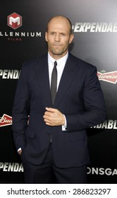 """Jason Statham at the Los Angeles premiere of """"The Expendables 3"""" held at the TCL Chinese Theatre in Los Angeles on August 11, 2014 in Los Angeles, California."""