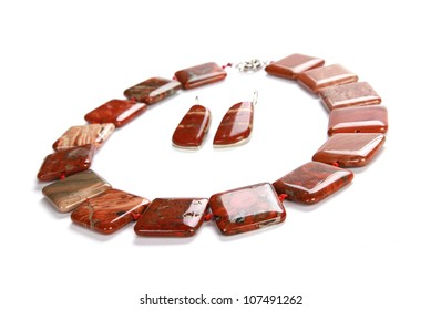 Jasper jewelry with earrings