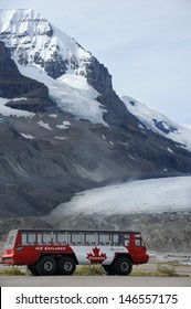 JASPER NATIONAL PARK, CANADA-AUGUST 27: Ice Explorer enabling tourists getting onto the surface of the Athabasca Glacier. August 27, 2011 in the Columbia Icefields, Alberta, Canada.