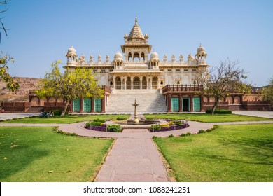 Jaswant Thada Cenotaph in Jodhpur. Jaswant Thada is a white marble cenotaph built in 1899 in Jodhpur on March 06, 2017 in India.