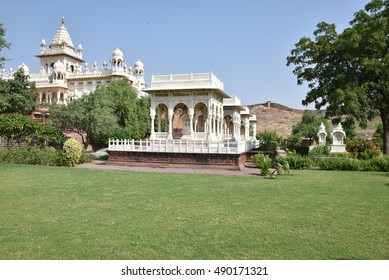 Jaswant Thada Mausoleum in Jodhpur, Rajasthan, India. It was built by Maharaja Sardar Singh of Jodhpur State in 1899 in memory of his father, Maharaja Jaswant Singh II. Famous Tourist Attraction.