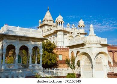 The Jaswant Thada memorial in Jodhpur, Rajasthan
