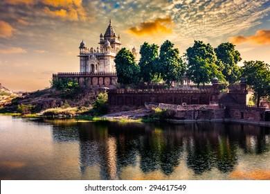 Jaswanth Thada mausoleum on sunset, Jodhpur, Rajasthan, India