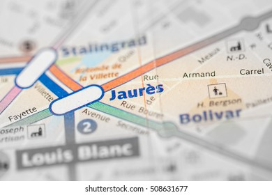 Jaures Station. 2nd Line. Paris. France