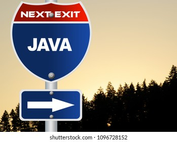 Java road sign