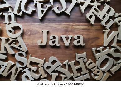 Java wooden blocks , Programming language