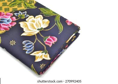 Javanese Batik  isolated on white
