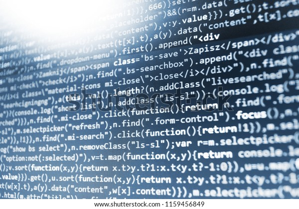 Javascript Code Text Editor Background Software Stock Photo (Edit