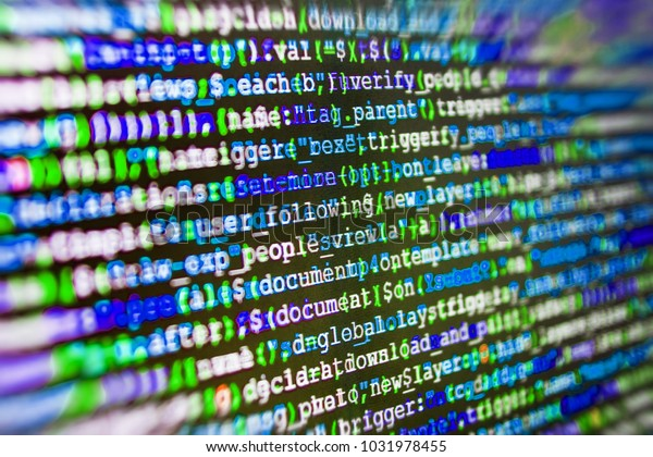 Javascript Code Text Editor Php Data Stock Photo (Edit Now