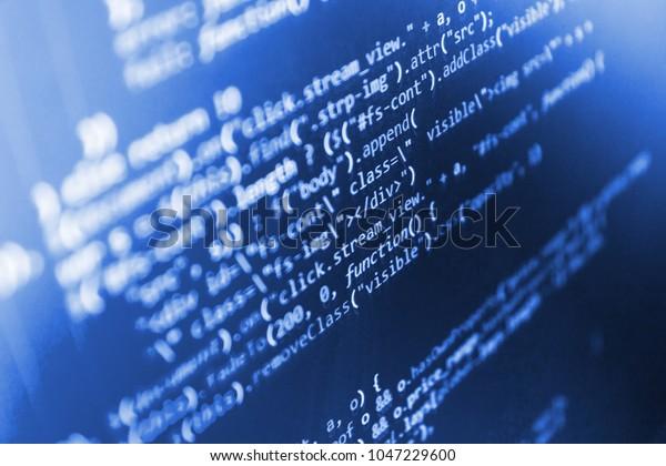 Javascript Code Text Editor Screen Web Stock Photo (Edit Now