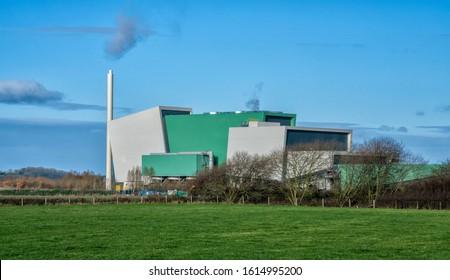 Javelin Park waste incinerator near Gloucester, England United Kingdom