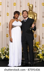 Javier Bardem & Jennifer Hudson at the 80th Annual Academy Awards at the Kodak Theatre, Hollywood. February 24, 2008 Los Angeles, CA Picture: Paul Smith / Featureflash
