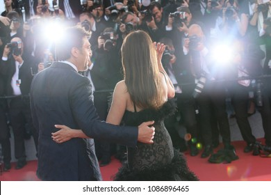 Javier Bardem, Penelope Cruz  attends the opening gala during the 71st annual Cannes Film Festival at Palais des Festivals on May 8, 2018 in Cannes, France.