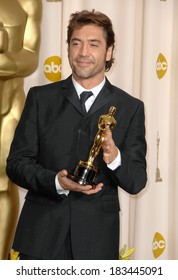Javier Bardem, winner, Best Supporting Actor, NO COUNTRY FOR OLD MEN, 80th Annual Academy Awards Oscars Ceremony, The Kodak Theatre, Los Angeles, February 24, 2008