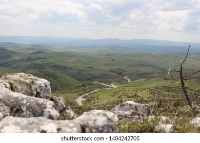 Javor is a mountain in southwestern Serbia. The highest point of the Javor Mountain is Vasilin Top with 1,519 meters above sea level. This is the view from the highest peak. - Shutterstock ID 1404242705