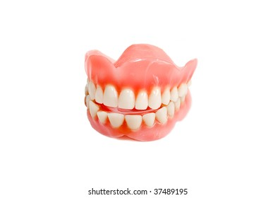 Jaw smile from plastic teeth