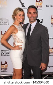 """Jay Harrington and Monica Richards at """"The Way Way Back"""" Premiere as part of the Los Angeles Film Festival, Regal Cinemas, Los Angeles, CA 06-23-13"""