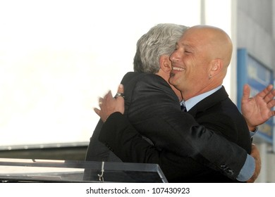 Jay Leno and Howie Mandel  at the Hollywood Walk of Fame Ceremony honoring Howie Mandel. Hollywood Boulevard, Hollywood, CA. 09-04-08
