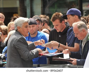 Jay Leno on Hollywood Boulevard where actor Russell Crowe was honored with the 2,404th star on the Hollywood Walk of Fame. April 12, 2010  Los Angeles, CA Picture: Paul Smith / Featureflash