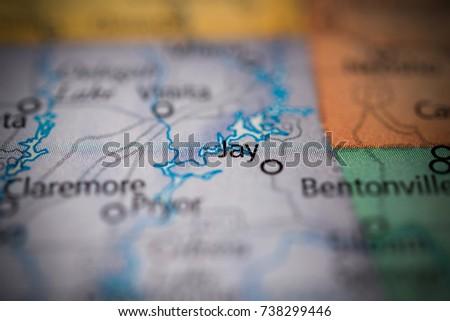 Jay Oklahoma Map.Jay Oklahoma Stock Photo Edit Now 738299446 Shutterstock