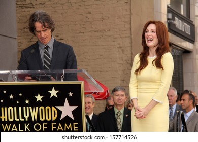 Jay Roach and Julianne Moore at Julianne Moore's Star on the Hollywood Walk of Fame Ceremony, Hollywood Walk of Fame, Hollywood, CA 10-03-13