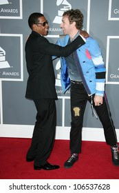 Jay Z and Chris Martin at the 51st Annual GRAMMY Awards. Staples Center, Los Angeles, CA. 02-08-09