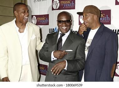 Jay Z, LA Reid, Russell Simmons at UJA of New York's Music Visionary Award Ceremony, Pierre Hotel, New York, NY, July 18, 2006