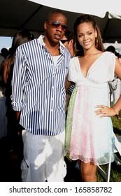 Jay Z, Rihanna inside for 2005 Mercedes-Benz Polo Challenge, The Bridgehampton Polo Club BPC, Bridgehampton, NY, July 23, 2005