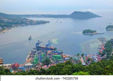Jayapura City view from above