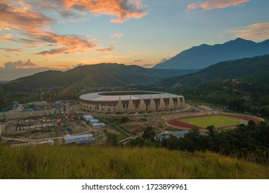 Jayapura, Papua, Indonesia, it looks like the Papua stadium has risen which will be used for PON Papua, August 13, 2019