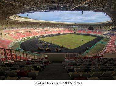 Jayapura, Papua, Indonesia, the Papua Stadium rose to be used for PON Papua, January 01, 2020