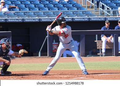 Jaylin Davis outfielder for the Salt River Rafters at Peoria Sports Complex in Peoria, Arizona/USA October 26,2018.