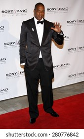 Jay-Z at the 2008 Sony/BMG Grammy After Party held at the Beverly Hills Hotel in Beverly Hills on February 10, 2008.