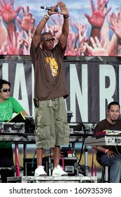 Jay-Z and Linkin Park on stage for Live 8 Concert, Philadelphia Museum of Art, Philadelphia, PA, Saturday, July 02, 2005