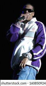 Jay-Z performs at the K-ROCK DYSFUNCTIONAL FAMILY PICNIC at the Jones Beach Theater, Long Island, NY, Saturday June 19, 2004